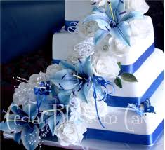 blue lily wedding cake close up 20 handmade gumpaste roses u2026 flickr