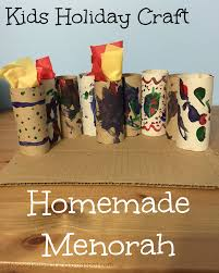 kids homemade menorah and the time for mom holiday craft challenge