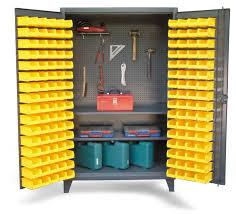Cabinets With Locking Doors by Upright Tool Storage Bin Cabinet Bin Cabinet With Pegboard Back