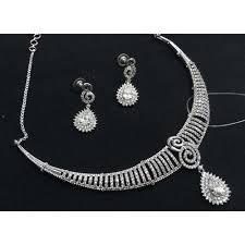white gold diamonds necklace images White gold diamond necklace set diamond jewelry set heere ke jpg