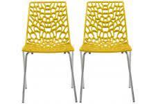 chaises jaunes chaise jaune design sur declikdeco n 1 de la deco design en ligne