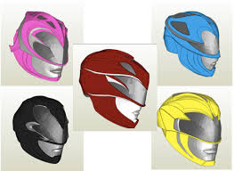 power rangers 2017 helmet pack pepakura foam files