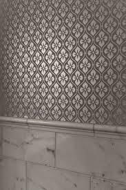 silver metallic wallpaper contemporary bathroom schroeder carpet