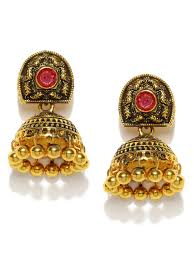 jhumka earrings jhumkas buy jhumka earrings online in india myntra