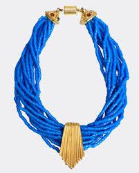 blue bead necklace images Ugo correani 1980s blue beads vintage choker necklace cavallienastri jpg