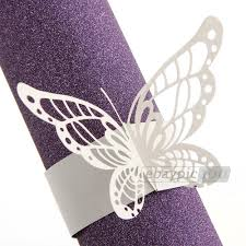 50pcs napkin butterfly ring paper holder table party wedding