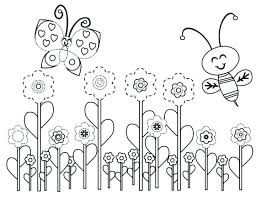 preschool coloring pages bugs spring bugs coloring pages printable in amusing spring break
