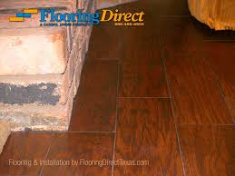 wood look tile installation cut fireplace brick by flooring