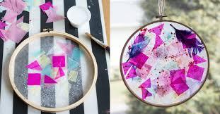 pattern making tissue paper tissue paper suncatchers in embroidery hoop frames