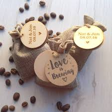 personalised coffee wedding favours by perkulatte