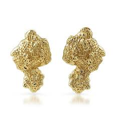 vintage earrings gold plated vintage large nugget earrings jewelryfresh