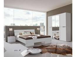 chambre color chambre compl te coloris blanc et chrome vente de lit complete