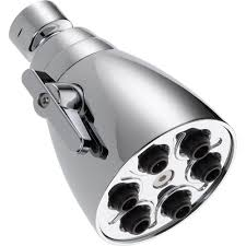 delta 6 jetted 1 spray 2 1 2 in fixed shower head in chrome fixed shower head in chrome 52667 pk the home depot