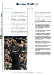 Resume Checklist Resumes U0026 Cover Letters The Career Center University Of