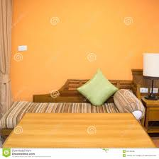 chambre color orange color of bedroom interior design stock photo image of