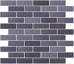 glass tile 1x3 inch violet blue slate metallic glass subway tile
