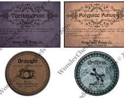 printable harry potter labels 2 8x1 5 set of 8 potion