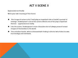 Themes For Hamlet Act 2 | hamlet act i review small group seesion ppt video online download