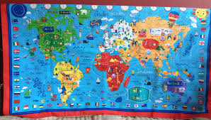 World Map Fabric by Vinegar And Glitter March 2012