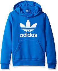 light blue adidas hoodie amazon com adidas originals boys active trefoil hoodie clothing