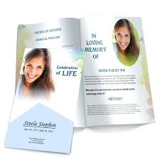 beautiful funeral programs template memorial flyer template forever funeral program is