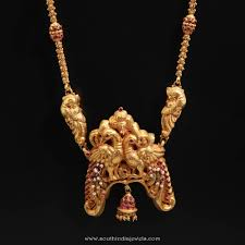 gold chain necklace long images Antique gold ruby long chain south india jewels jpg