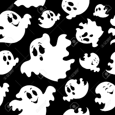 halloween seamless background seamless background with ghosts 1 illustration royalty free
