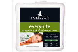 Duvet Inners Fairydown Everynite All Seasons Duck Down U0026 Feather Duvet Inner