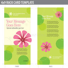 4x9 rack card brochure template royalty free stock image image