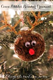 cocoa pebbles reindeer ornament the creative