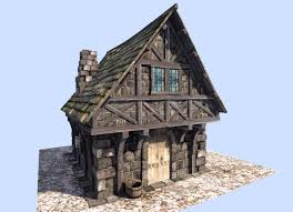 3d asset medieval style house cgtrader