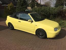 yellow volkswagen convertible volkswagen golf mk3 5 cabriolet colour concept 2001 in milton