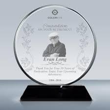 retirement plaques retirement plaque circle award 016 goodcount awards