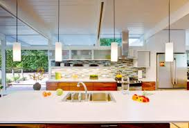 mid century modern kitchen backsplash kitchen pendant lighting possible design types with photos