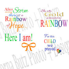instant download of rainbow baby quotes templates on
