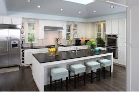 kitchen island contemporary amazing contemporary island in kitchen with low chairs