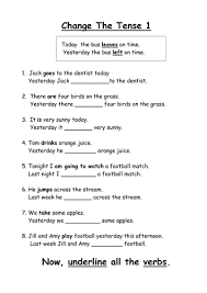 all worksheets simple past present future tense worksheets