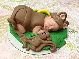 monkey cake topper monkey cake toppers edible vanilla fondant cake