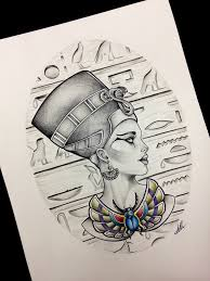 queen nefertiti tattoo design inspiration ink red ble tattoos
