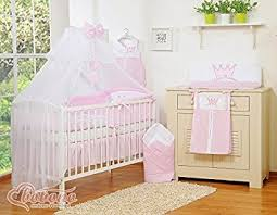 11 pcs brand new little princess pink baby bedding set canopy