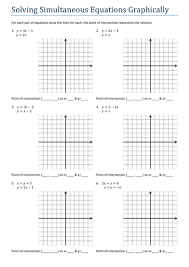 gcsesimultaneous equations graphically worksheet by tristanjones