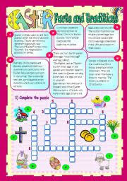 worksheet easter facts and traditions