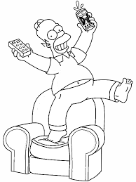 simpsons coloring pages homer color ins cool coloring