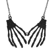 halloween skeleton images halloween skeleton hands necklace claire u0027s clairesscares