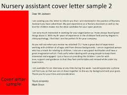 cover letter assistant nursery assistant cover letter