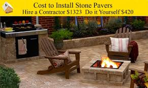 do it yourself paver patio cost to install stone pavers youtube