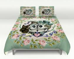 sugar skull comforter set or duvet cover till death do