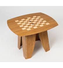 coffee table caramelized with checkerboard inlay snappytables