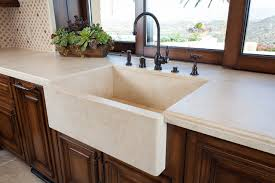Stone Farmhouse Kitchen Sink Mediterranean Kitchen Orange - Marble kitchen sinks