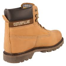mens caterpillar boots colorado p715510 uk 7 whiskey 100 leather